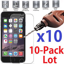 10x Wholesale Lot Tempered Glass Screen Saver For iPhone 6 Plus / 6S Plus +