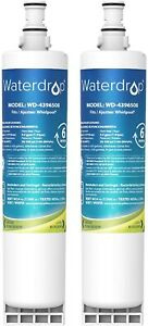 Waterdrop 4396508 Refrigerator water filter Replacement for Whirlpool (4 Pack)