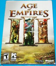 NEW SEALED AGE OF EMPIRES III PC EDITION 3 GAME