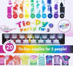 One Step Tie Dye Kit Classic Super Max Vibrant Bright Colour DIY 2021 Best Value