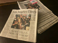 Los Angeles Times Newspaper  LA Lakers Champion October 12, 2020