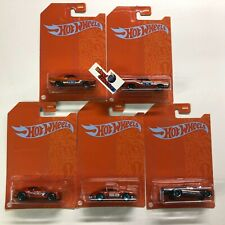 5 Car Set * 2021 Hot Wheels ORANGE & BLUE Series Mix 2 Case B