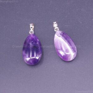 Natural Gemstones Teardrop Drop Mixed Stone Reiki Chakra Healing Beads Pendant