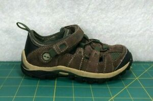 Timberland Hypertrail Fisherman Infant Brown Suede Strapped Sandals~Size 9
