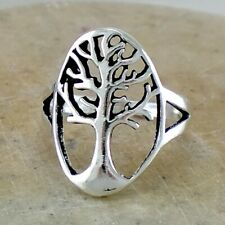 Life Ring size 6 style# r2702 Detailed .925 Sterling Silver Tree Of