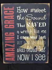 New Rustic AMAZING GRACE Dove Word Wood Sign Wall Plaque Picture Bible Jesus