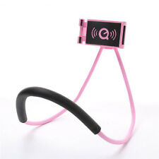 USA Hand Free Neck Hanging Holder for Smart Phone Pad Lazy Stand 360° Pink