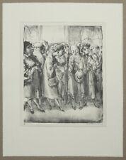 A. Paul Weber Im Prado II Lithographie 1964 handsigniert