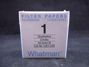 WHATMAN Grade 1 Qualitative Filter Paper 42.5mm Diameter 11µm Pore Size 100/PACK
