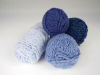 Lion Brand Homespun Yarn Lot Blues Bulky/Craft Weight Acrylic Total of 14.4oz