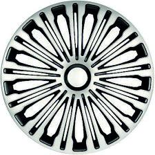 Radkappen Radzierblenden universal 4er PACK 16 Zoll VOLANTE silver-black