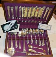 VINTAGE 1847 ROGERS BROS ETERNALLY YOURS FLATWARE SET SERVICE FOR 16 W/BOX
