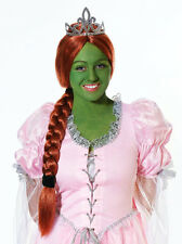 Princess Fiona Wig & Ponytail - Shrek Fancy Dress - Halloween
