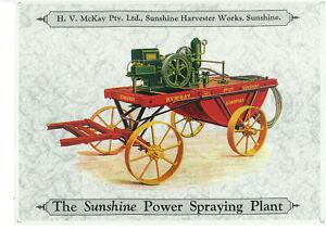 Sunshine Power Spraying Plant Metal Sign (WAR086)