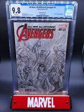 All-New All Different Avengers #1 CGC 9.8 1:200 Ross Sketch Variant - 28 census!
