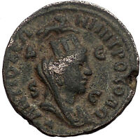 PHILIP II 244AD Antioch TYCHE RAM Large Authentic Ancient Roman Coin i56360