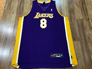 MENS 56 - Vtg NBA Los Angeles Lakers #8 Kobe Bryant Nike Dri-Fit Sewn Jersey