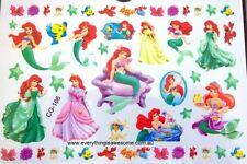Princess Ariel Little Mermaid Temporary Tattoo Sheet Birthday Party Bag Filler