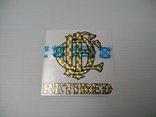 """Chicago Fire Department Decal Letter Nest Retired Gold and Black 4"""""""