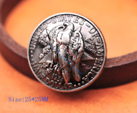 5pc Texas Centennial Half Dollar Eagle Star Leathercraft Coin Concho Screw back