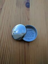 Ted Cash  Solid German Silver Cap Box or pill box etc Plain Top Domed
