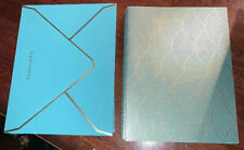 Set Of 10 Tiffany & Co. New Year Greeting Cards W/Envelopes, Teal & Gold Dots