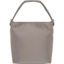 NEW OROTON Stencil Hobo Bag Handbag Leather Canvas in Grey BNWT RRP $395
