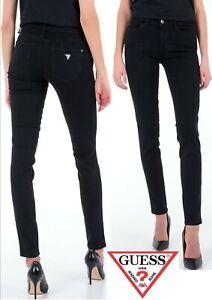 Guess Jeansy Black Curve X Skinny Mid Waist Jeans (06) - Sensational Value!!