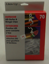 LITES UP~BOX OF 70 GUTTER/SHINGLE LIGHT CLIPS ~ Outdoor C7, C9, LED & Mini ~ NEW