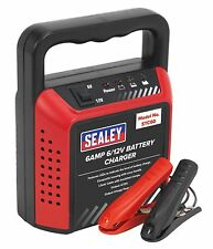 Sealey Compact Battery Charger 6/12V 6Amp 230V Car Van Motorbike Mower