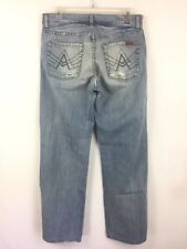 "7 Seven For All Mankind Women's ""A"" Pocket Straight Light Wash - Size 29 X 29"