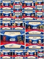 STAR WARS CARD TRADER  - BLUE DUAL SIGNATURE - COMPLETE SET + AWARD - 20 CARDS