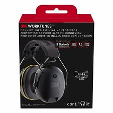 3M WorkTunes Over the Ear Bluetooth Wireless Headphones with Integrated Mic  - Black