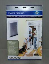 BRAND NEW!! PetSafe Plastic Pet Door White, Large 1-100 pounds