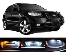 Xenon White License Plate / Tag 168 194 LED light bulb for Hyundai Santa Fe 2Pcs