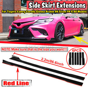 2.2M Side Skirts Extension Rocker Panel For Toyota Corolla Camry Hatchback sedan