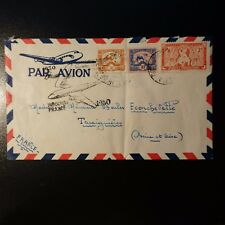INDOCHINE AVIATION LETTRE COVER PREMIER VOL INDOCHINE FRANCE 1950