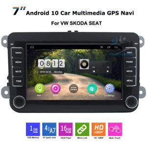 "7"" Android Car Radio Head Unit GPS Navigation BT USB For VW Skoda Seat Leon Mk2"