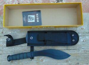 Ka-Bar Combat Kukri 1095 Cro-Van Machete w/sheath, USA Made, NIB, free shipping