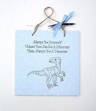 Dinosaur - Dinosaur Sketch - T Rex - Handmade Plaque - Dinosaur Decor