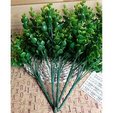 7-Branches Artificial Fake Floral Plastic Eucalyptus Plant Flowers Cafe Decor
