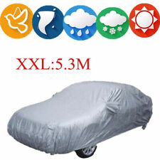 Car Cover Proof Shade Sun UV Rain Protection Universal Reflective Stripe Silver