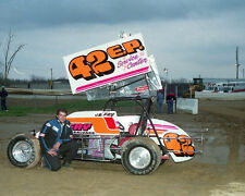 J.R. FRY #42 E.P. SERVICE CENTER OUTLAW SPRINT CAR 8X10 GLOSSY PHOTO #L3