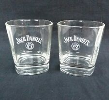 Two Stunning Jack Daniel's Old No7 Tennessee Whiskey Glass Tumblers - Bar - Pub