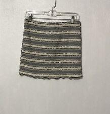 NWT Papaya Black White Tiered  Skirt NEW L Large