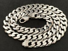 Men's Sterling Silver Curb Chain.
