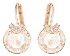 BELLA V CRYSTAL PIERCED EARRINGS PINK ROSE GOLD 2017 SWAROVSKI JEWELRY  5299318