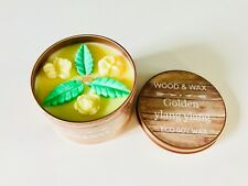 SCENTED SOY WAX CANDLE WITH WOOD WICK / Ylang Ylang in presentation bag / UK