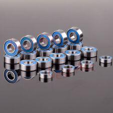 19PCS Metric Blue Rubber SealedRC Traxxas SLASH 2WD STAMPEDE BANDIT Bearing KIT