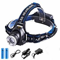 40000LM XM-L T6 LED Headlamp Headlight flashlight head light lamp USB Recharge